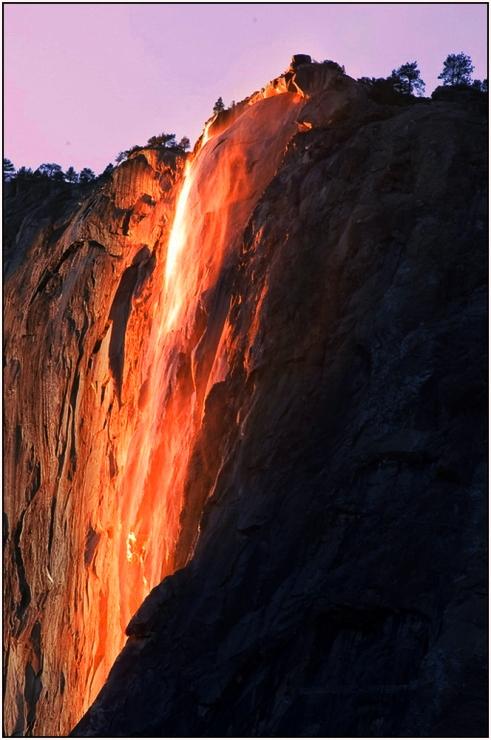 加州優山美地國家公園-火噴泉 (拍攝: 余子文)